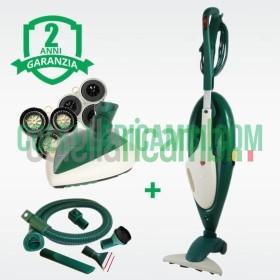 Aspirapolvere Vorwerk Folletto VK135 + Lucidatrice Cuore PL515 e Tubo Accessori Rigenerato Originale con Garanzia