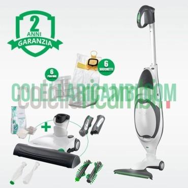 Aspirapolvere Vorwerk Folletto VK150 con Battitappeto EB370 Rigenerato