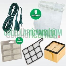 Set Sacchetti, Filtri, Cavo e Profumi Compatibili per Folletto VK135 VK136