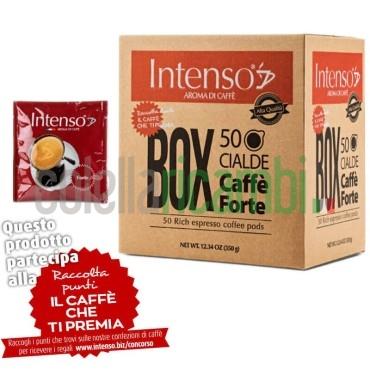 Box 50 Cialde Intenso Aroma Di Caffe' Miscela Forte - 1 Pacco da 50 Cialde