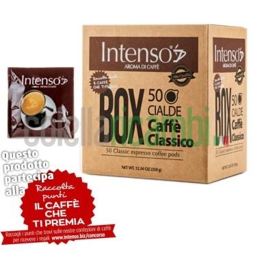 Box 50 Cialde Intenso Aroma Di Caffe' Miscela Classico - 1 Pacco da 50 Cialde