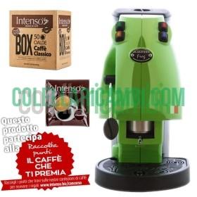 Macchina Caffè Cialde Didiesse Frog Verde + Box 50 Cialde Intenso Aroma di Caffe' Miscela Classico