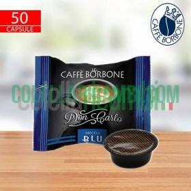 50 Capsule Don Carlo Caffe Borbone Miscela Blu Compatibili A Modo Mio