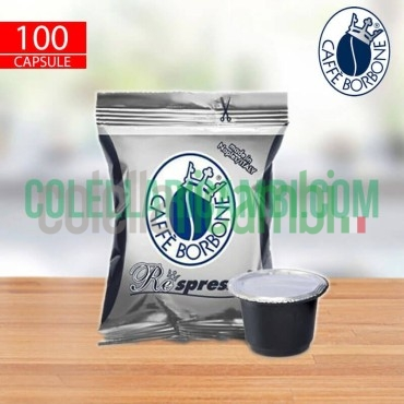 100 Capsule Respresso Caffe Borbone Miscela Nera Compatibilita' Nespresso