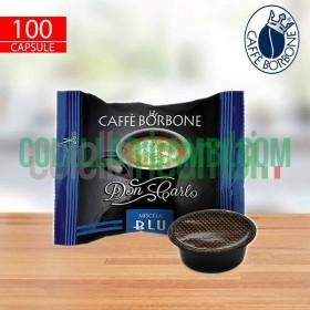 100 Capsule Don Carlo Caffe Borbone Miscela Blu Compatibili A Modo Mio