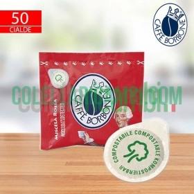 50 Cialde Caffè Borbone Miscela Rossa Ese 44mm