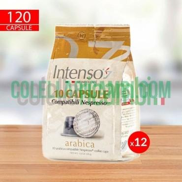 120 Capsule Caffè Intenso Miscela Arabica Compatibili Nespresso