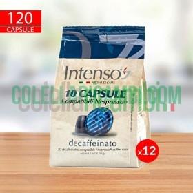 120 Capsule Caffè Intenso Miscela Decaffeinato Compatibili Nespresso