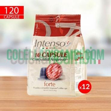 120 Capsule Caffè Intenso Miscela Forte Compatibili Nespresso