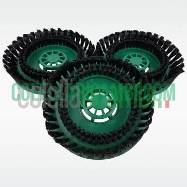 Tris Dischi Spazzole Setole Larghe per Lucidatrice Folletto PL510 PL511 PL512