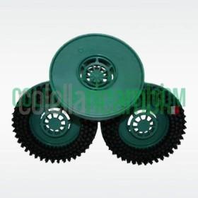Tris Dischi Spazzole Setole Strette per Lucidatrice Folletto PL510 PL511 PL512