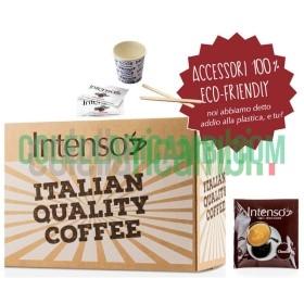 Kit 150 cialde miscela CLASSICO (150 cialde 150 Palettine in legno 150 Bicchierini in Carta 150 Bustine di Zucchero Extrafine)