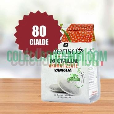Intenso Aroma Di Caffè Cialda Aromatizzate Vaniglia - 1 Pacco da 80 Cialde