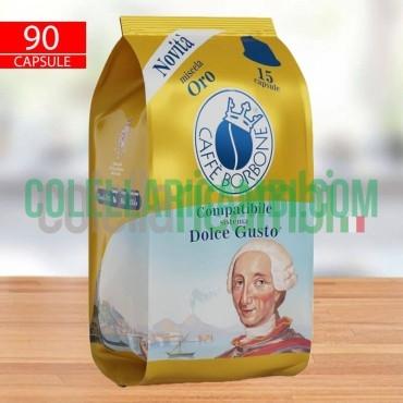 90 Capsule Caffè Borbone Compatibile Dolce Gusto Miscela Oro