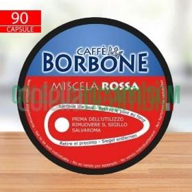 90 Capsule Caffè Borbone Miscela Rossa Compatibili Nescafè Dolce Gusto