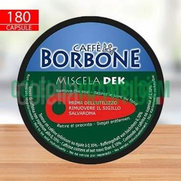180 Capsule Caffè Borbone Miscela Verde Decaffeinato Compatibili Nescafè Dolce Gusto