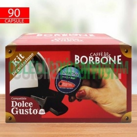 Kit Degustazione 90 Capsule Caffè Borbone Compatibile Dolce Gusto