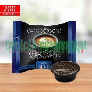 200 Capsule Compatibili A Modo Mio Caffè Borbone Don Carlo Miscela Blu