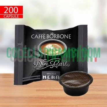 200 Capsule Compatibili Lavazza a Modo Mio Caffè Borbone Don Carlo Miscela Nera