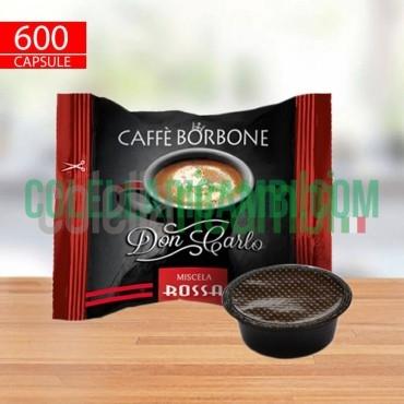 600 Capsule Compatibili A Modo Mio Caffè Borbone Don Carlo Miscela Rossa