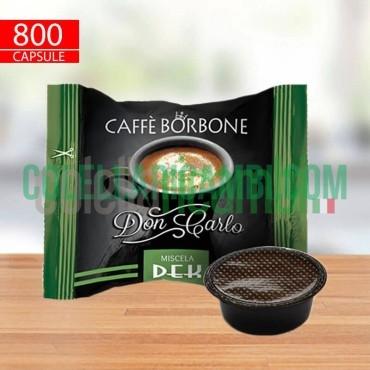 800 Capsule a Modo Mio Caffè Borbone Don Carlo Verde Dek Decaffeinato