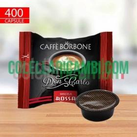 400 Capsule Compatibili A Modo Mio Caffè Borbone Don Carlo Miscela Rossa