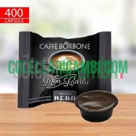400 Capsule Borbone Don Carlo Nera Compatibili A Modo Mio