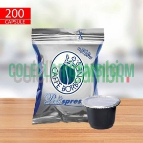 200 Capsule Compatibili Nespresso Caffè Borbone Respresso Miscela Blu