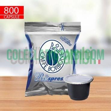 800 Capsule Compatibili Nespresso Caffè Borbone Respresso Miscela Blu