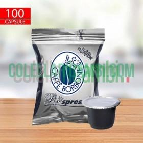 100 Capsule Compatibili Nespresso Caffè Borbone Respresso Miscela Nera