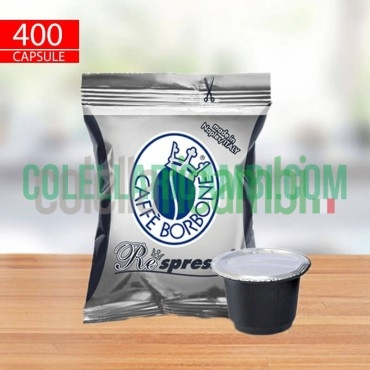 400 Capsule Compatibili Nespresso Caffè Borbone Respresso Miscela Nera