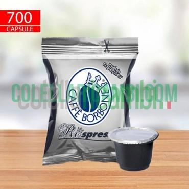 700 Capsule Compatibili Nespresso Caffè Borbone Respresso Miscela Nera