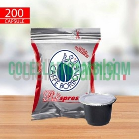 200 Capsule Compatibili Nespresso Caffè Borbone Respresso Miscela Rossa