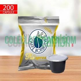 200 Capsule Compatibili Nespresso Caffè Borbone Respresso Miscela Oro