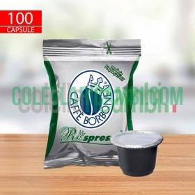 100 Capsule Compatibili Nespresso Caffè Borbone Respresso Miscela Dek