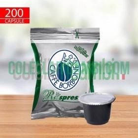 200 Capsule Compatibili Nespresso Caffè Borbone Respresso Miscela Dek
