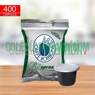 400 Capsule Compatibili Nespresso Caffè Borbone Respresso Miscela Dek
