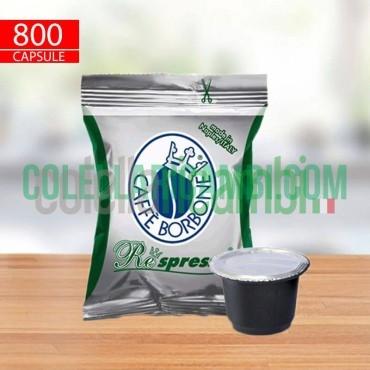 800 Capsule Compatibili Nespresso Caffè Borbone Respresso Miscela Dek