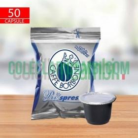 50 Capsule Compatibili Nespresso Caffè Borbone Respresso Miscela Blu
