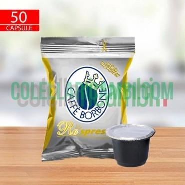 50 Capsule Compatibili Nespresso Caffè Borbone Respresso Miscela Oro