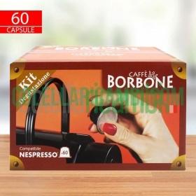 Kit Degustazione 60 Capsule Caffe Borbone Respresso Compatibile Nespresso