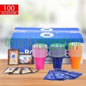 Kit Accessori Borbone da 100 Bicchieri Palette Zucchero Originale