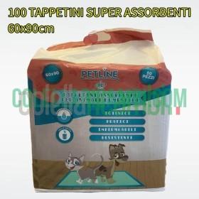 100 Tappetini Assorbenti Igienici per Animali Cani Gatti Domestici 60x90cm