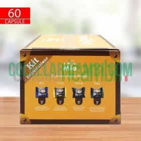 Kit Degustazione 60 Capsule Caffe Borbone Don Carlo Compatibile Lavazza a Modo Mio