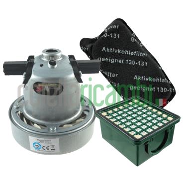 Motore Compatibile per Vorwerk Folletto VK130 VK131 Certificato TUV 900W + Filtri