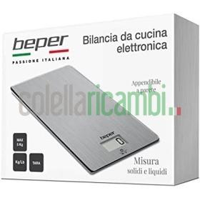 Beper Bilancia Cucina Digitale Acciaio, Inossidabile, Argento