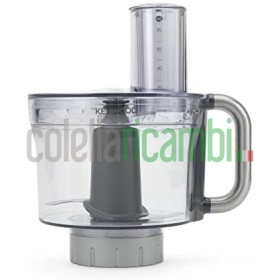 Kenwood Accessorio Food processor per Impastatrice Planetaria, 2,35 litri, Tritan, Grigio