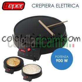 Piastra per Crepes Elettrica Antiaderente 900W Beper