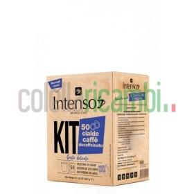 Kit 50 Cialde Intenso Con Accessori Caffe' Decaffeinato