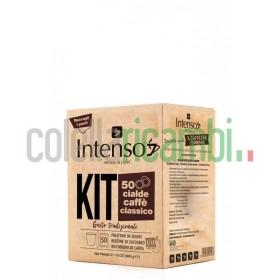 Kit 50 Cialde Intenso Con Accessori Caffe' Classico
